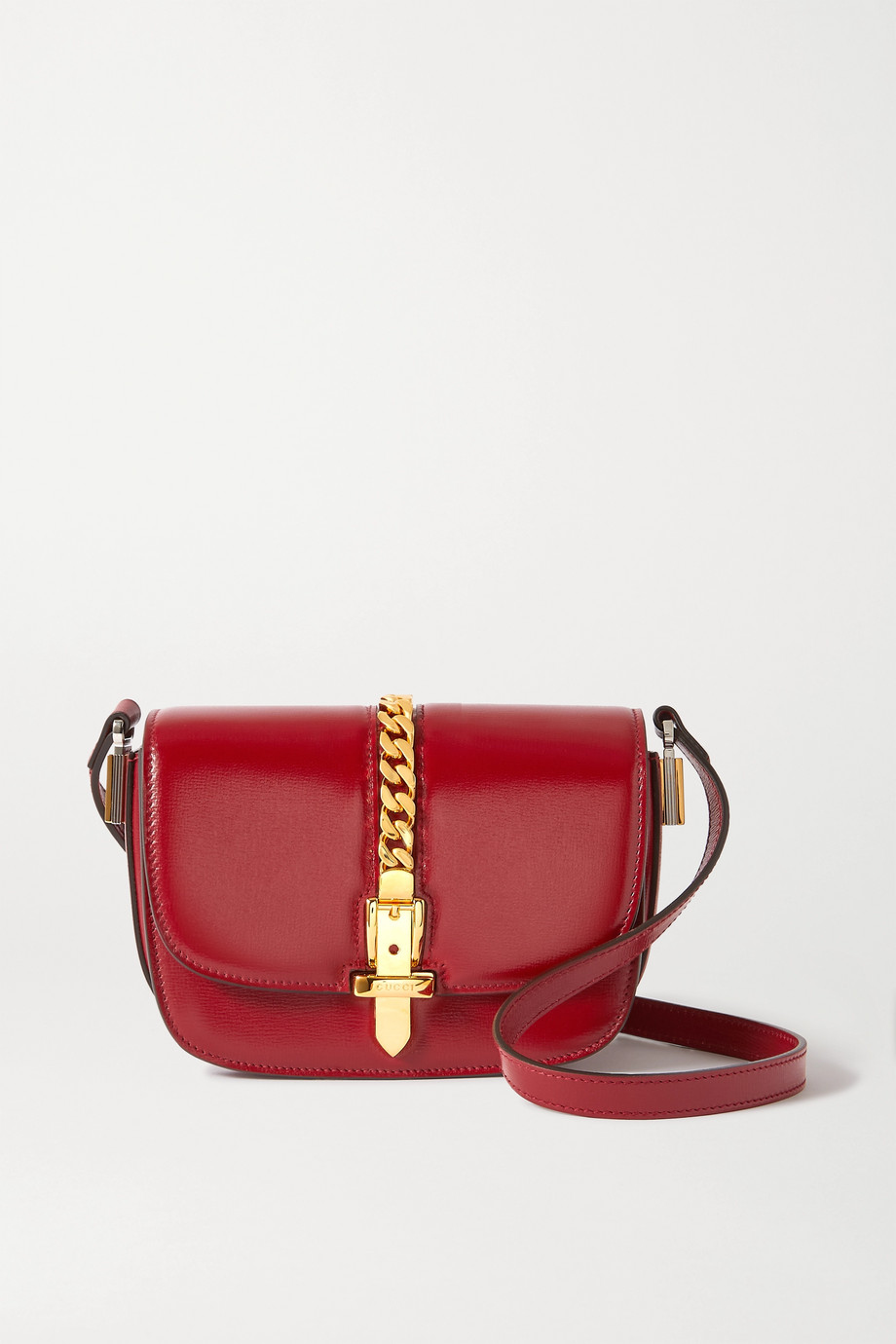 Gucci Sylvie 1969 mini chain-embellished leather shoulder bag