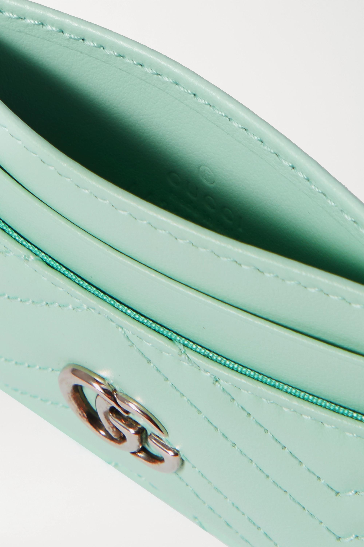 Gucci GG Marmont Kartenetui aus gestepptem Leder