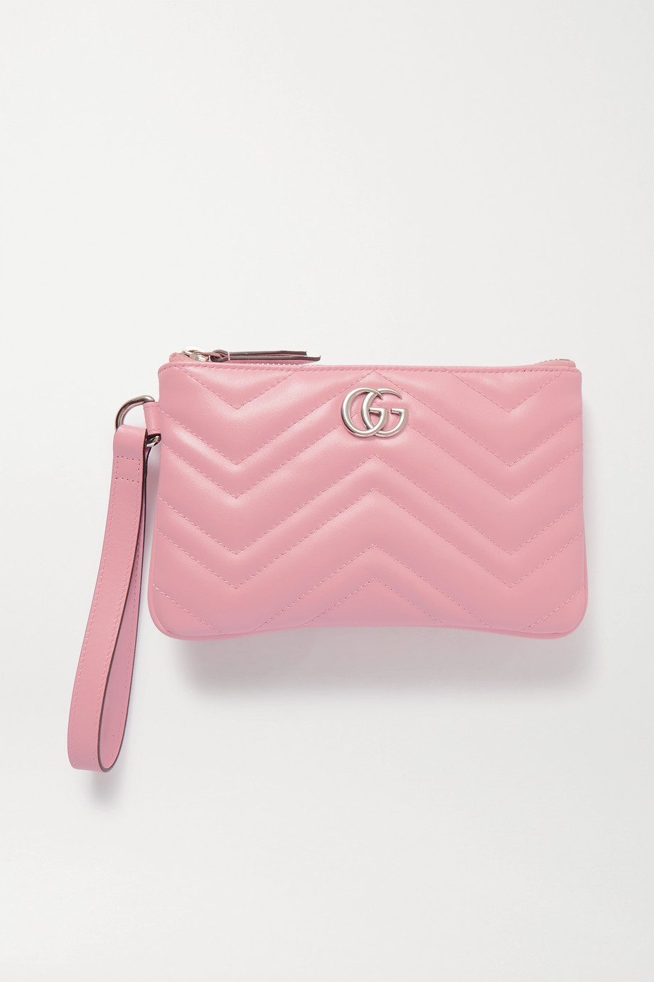 Gucci GG Marmont 绗缝皮革手拿包
