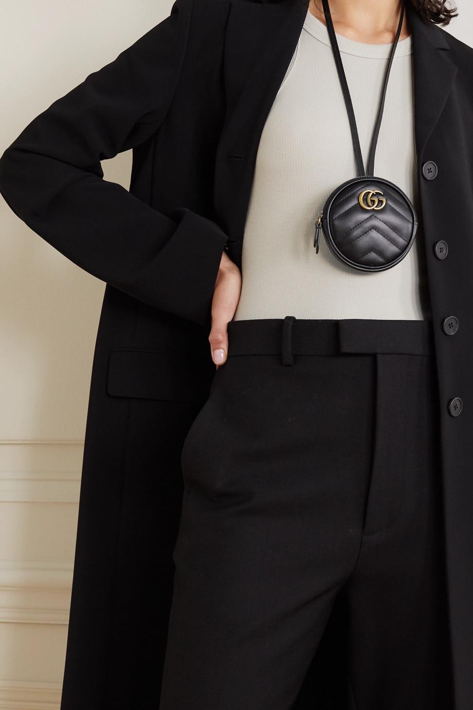 Gucci GG Marmont Beutel aus gestepptem Leder