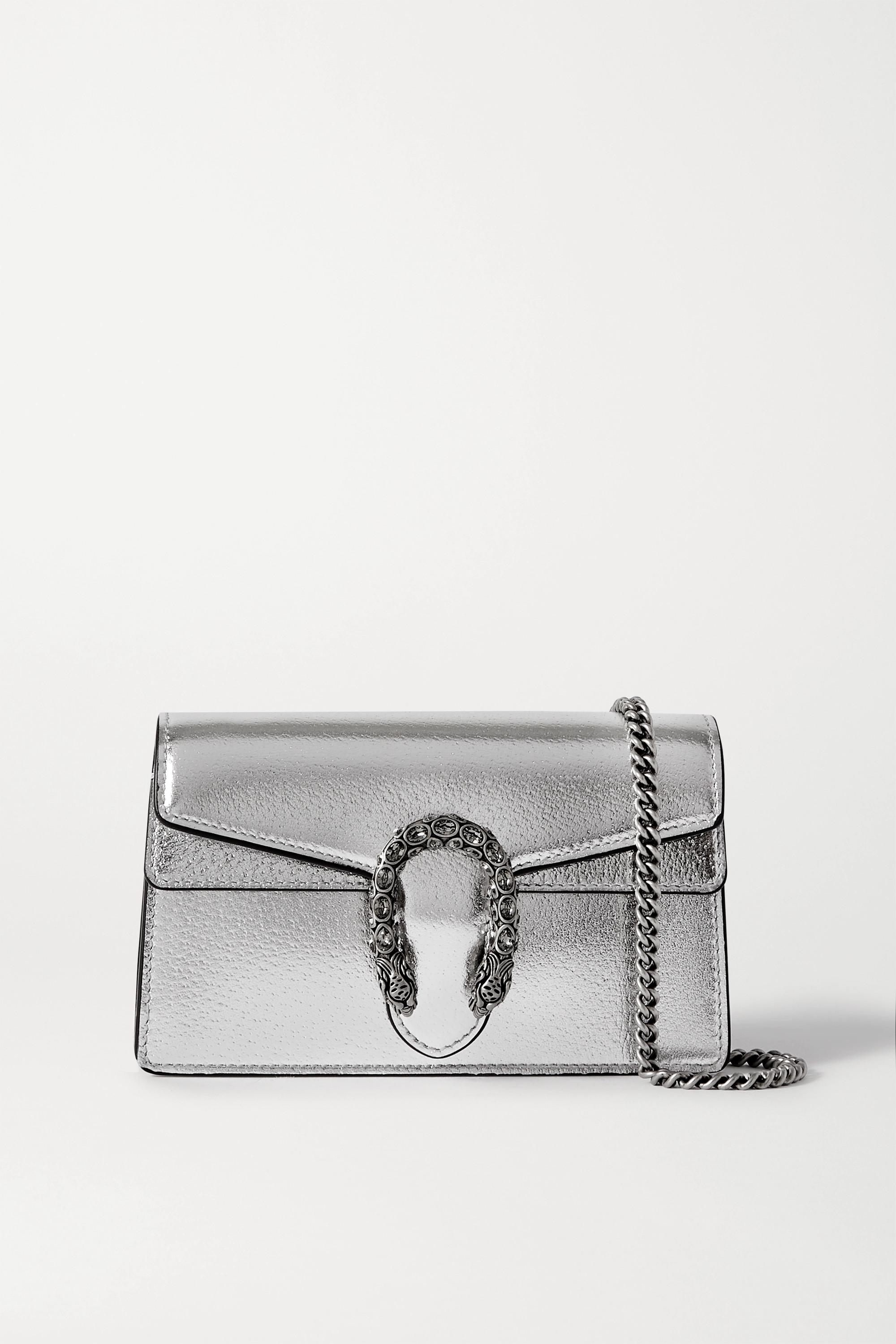 Gucci Dionysus super mini metallic leather shoulder bag