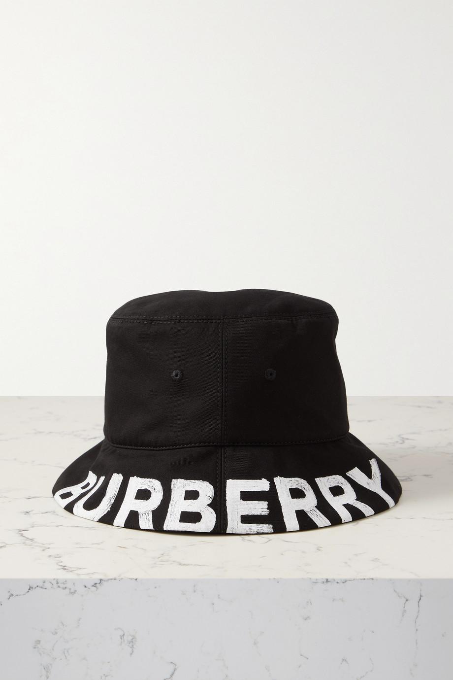 Burberry Bob réversible en serge de coton imprimée à carreaux