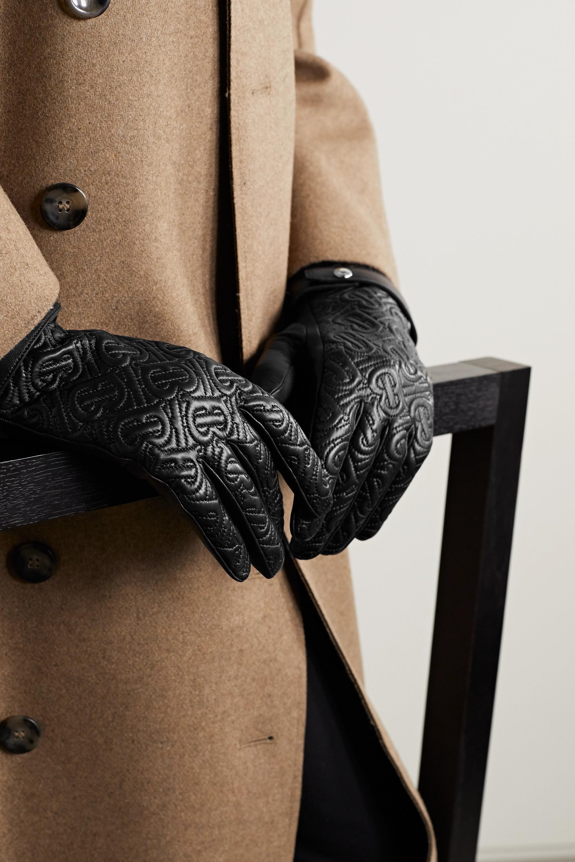Burberry Handschuhe aus gestepptem Leder