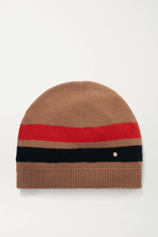 Burberry Bonnet en laine mérinos et cachemire mélangés à rayures