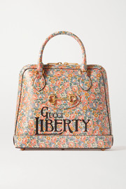 Gucci + Liberty 1955 Horsebit floral-print leather tote