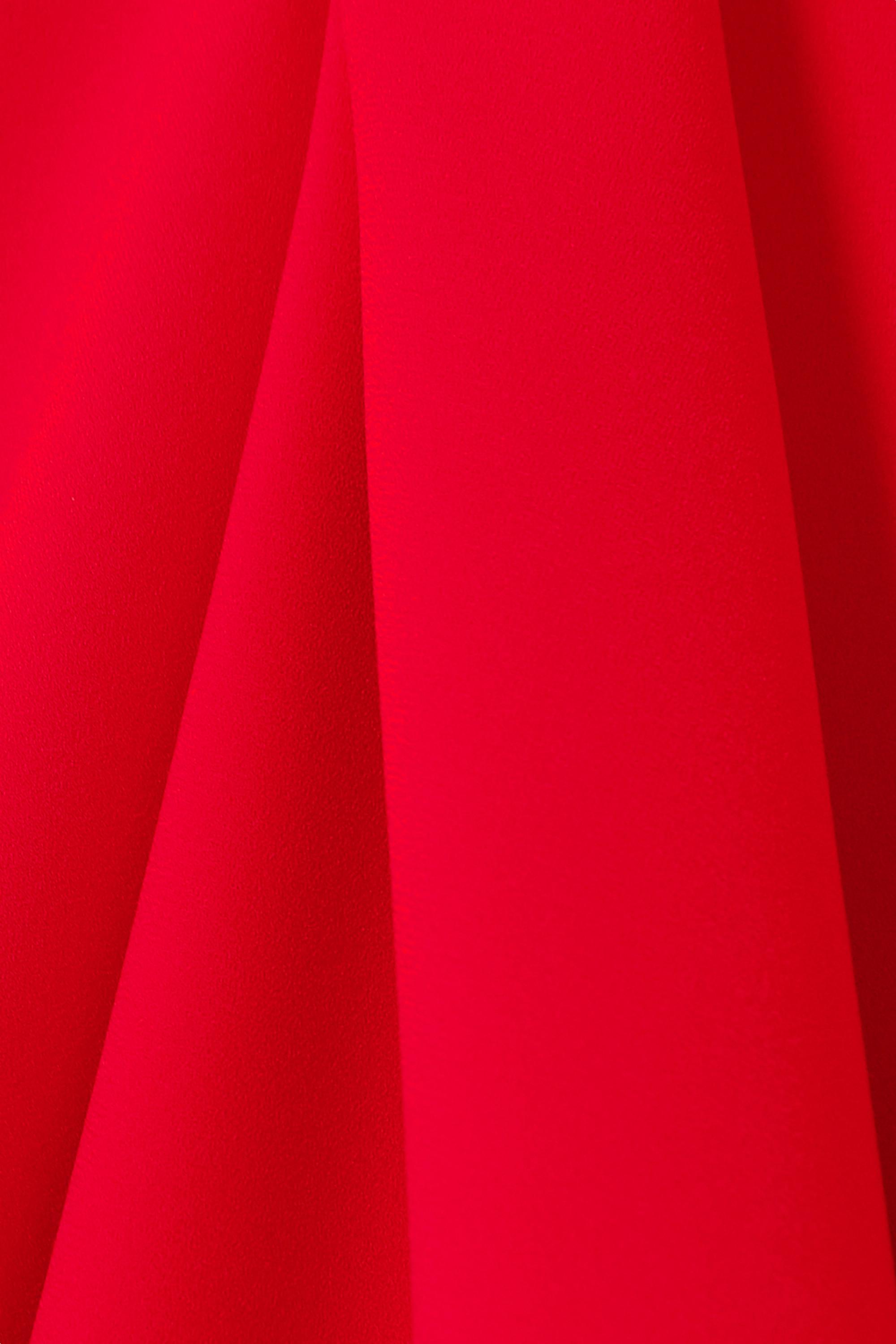 A.W.A.K.E. MODE Asymmetrisches trägerloses Kleid aus Cady