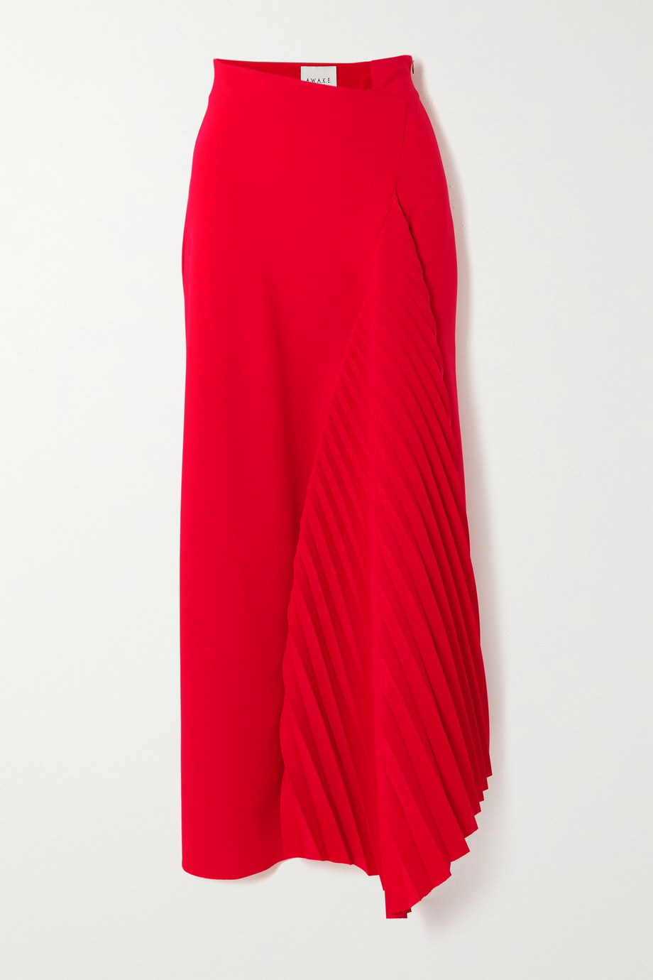 A.W.A.K.E. MODE Asymmetric pleated cady maxi skirt