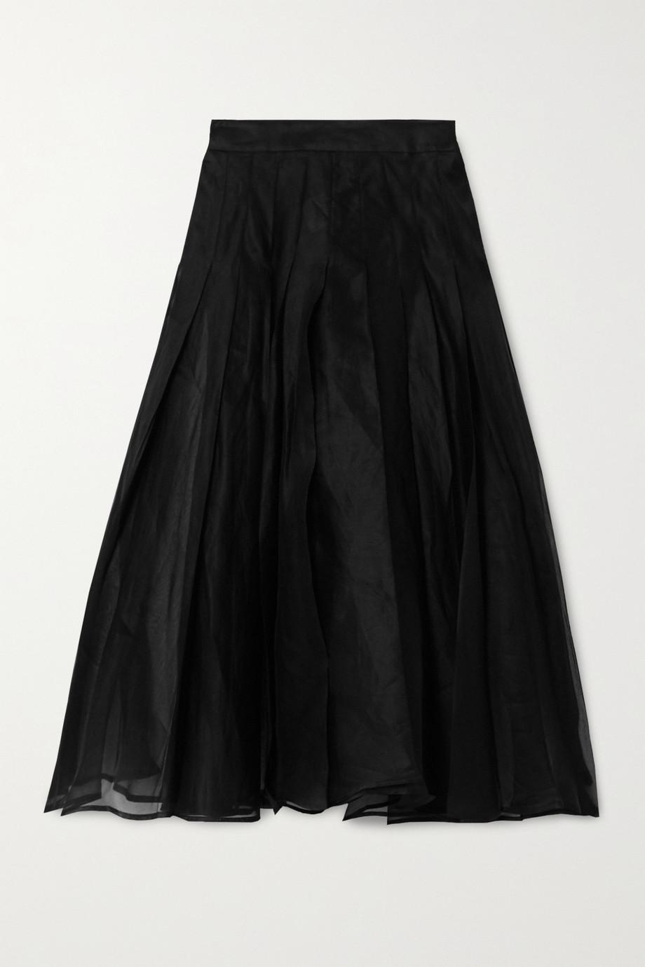 A.W.A.K.E. MODE 褶裥雪纺绸中长半身裙