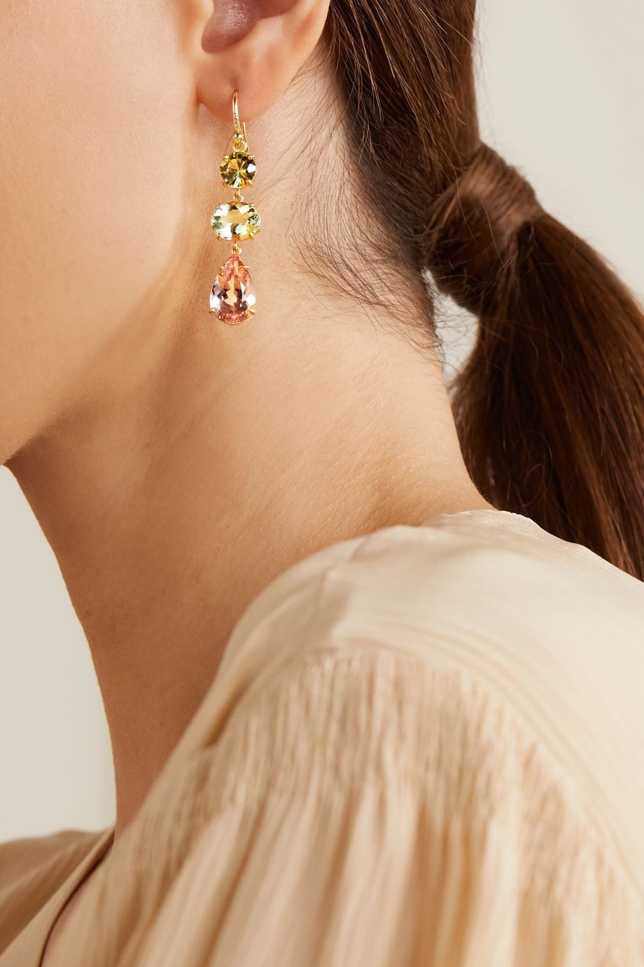 Irene Neuwirth Gemmy Gem 18-karat gold multi-stone earrings