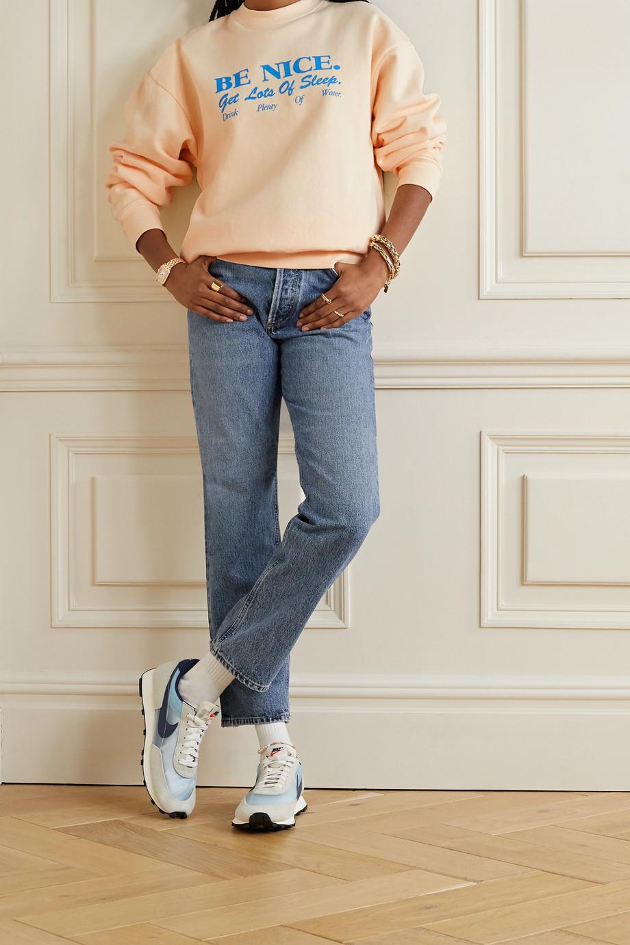 Sporty & Rich Printed cotton-jersey sweatshirt