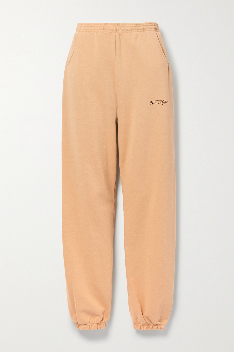Sporty & Rich Rizzoli printed cotton-jersey track pants