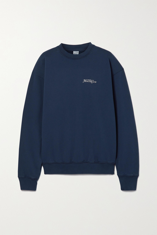 Sporty & Rich Rizzoli printed cotton-jersey sweatshirt