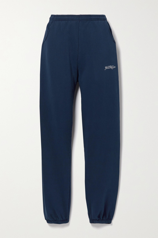 Sporty & Rich Rizzoli printed cotton-jersey track pants