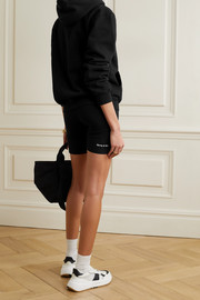 Sporty & Rich Printed stretch-cotton jersey shorts