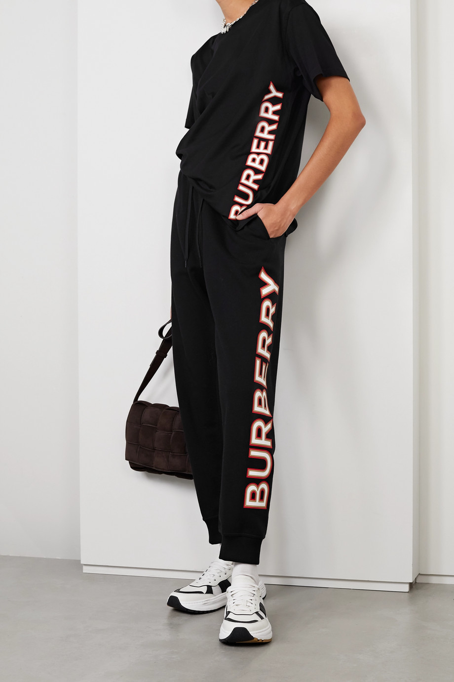 Burberry Oversized appliquéd cotton-jersey T-shirt