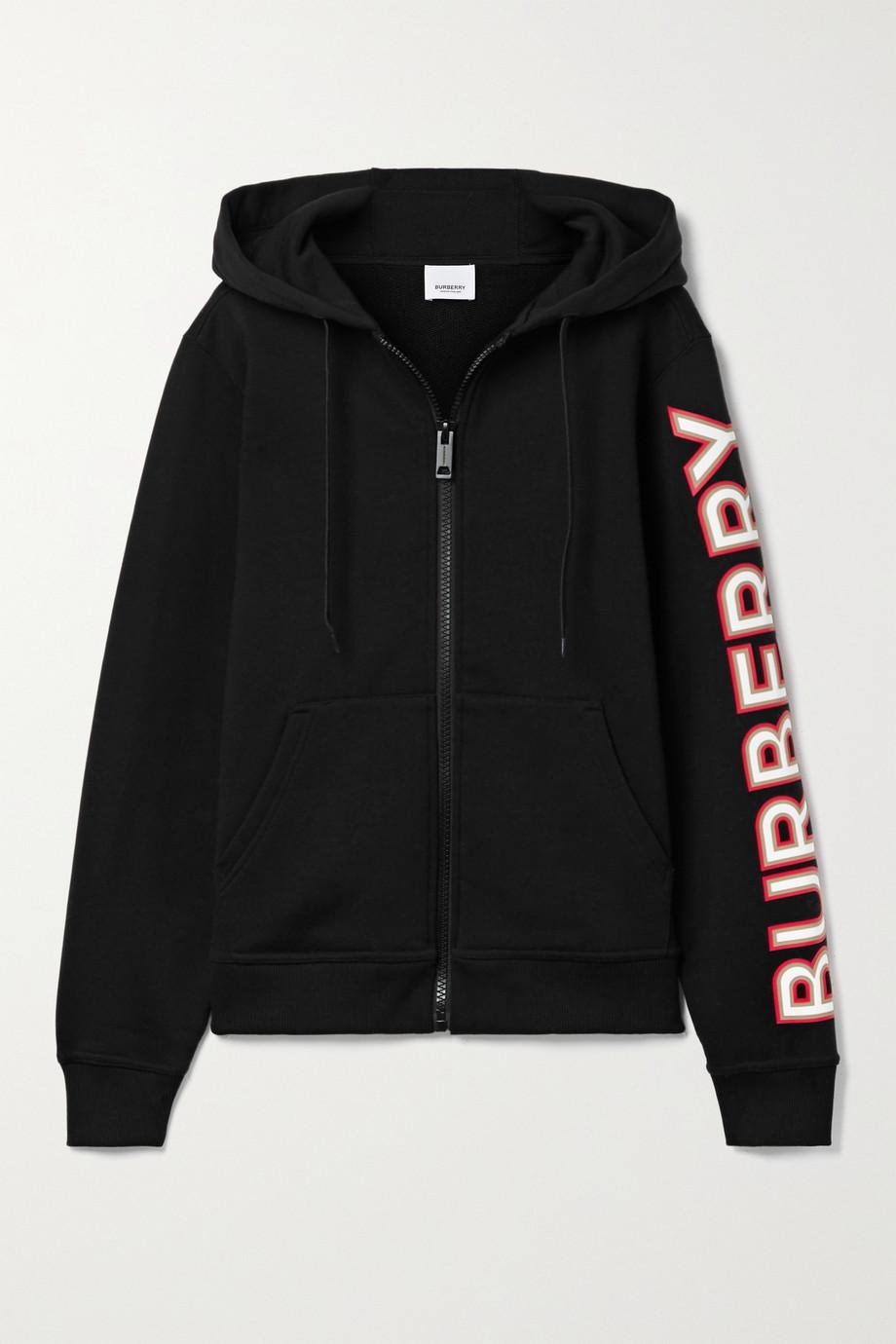 Burberry Appliquéd cotton-jersey hoodie