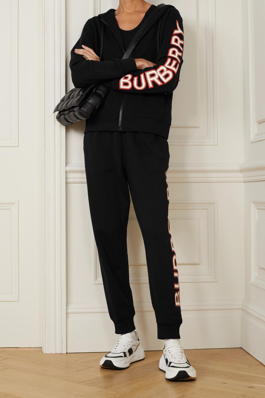 Burberry Sweat à capuche en jersey de coton à appliqué
