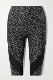 Burberry Paneled printed stretch shorts