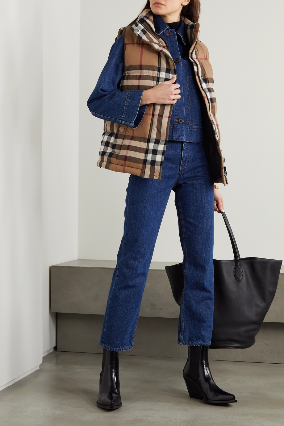 Burberry Checked quilted cotton down vest
