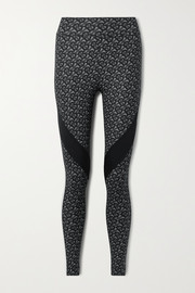 Burberry Paneled printed stretch leggings
