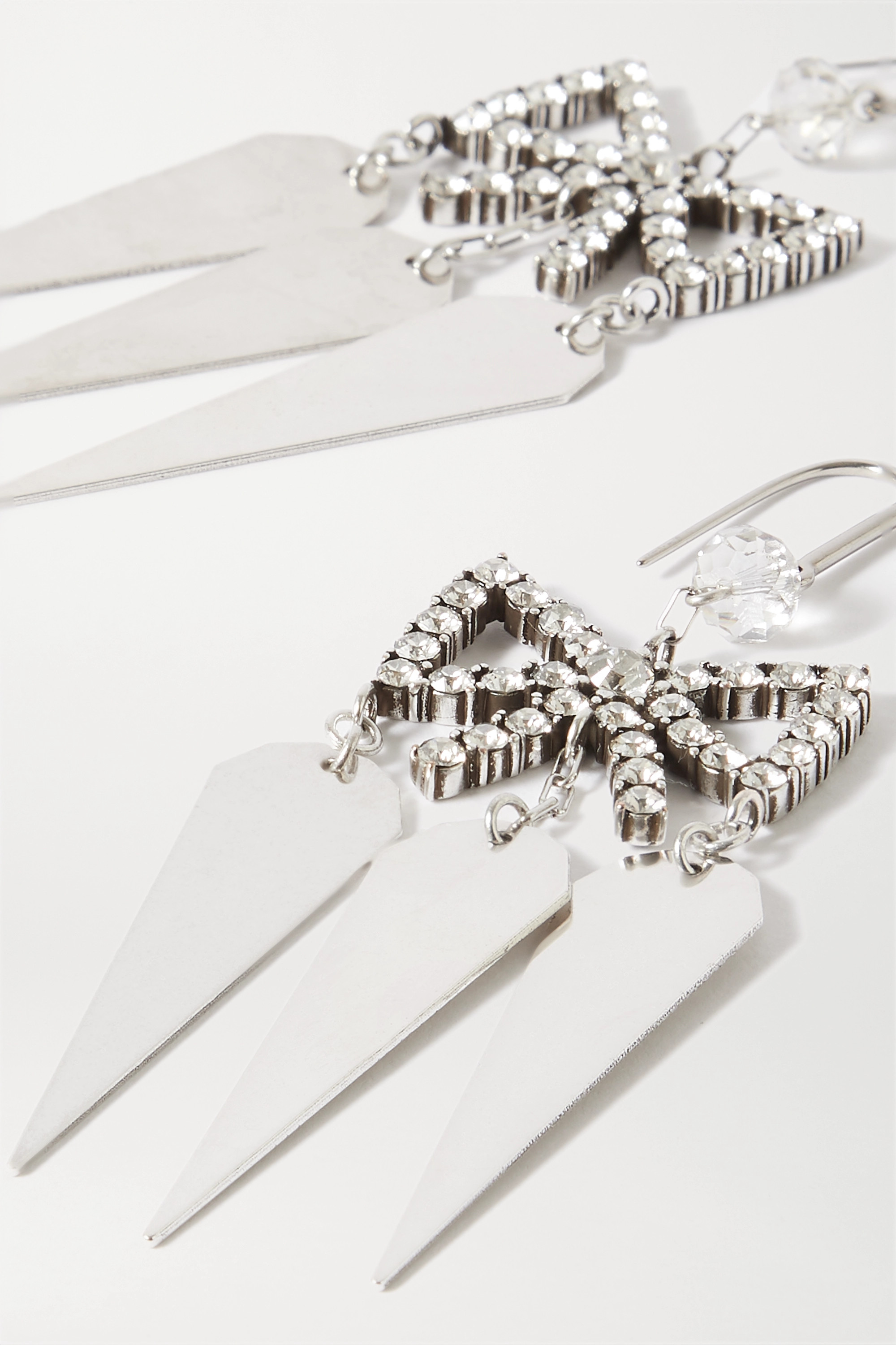Isabel Marant Silver-tone crystal earrings