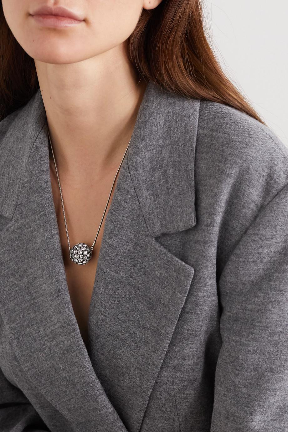 Isabel Marant Collier en métal argenté et cristaux