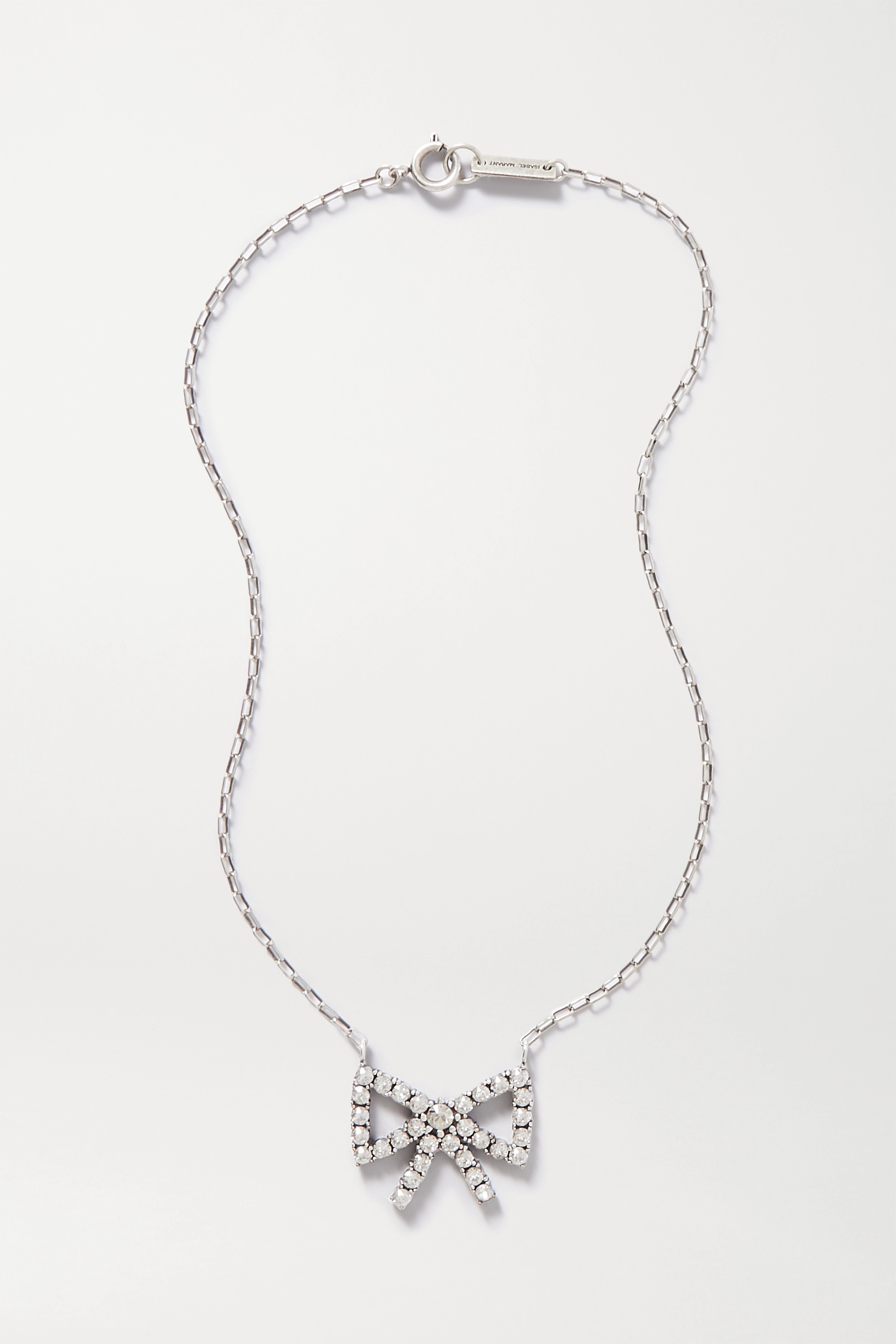 Isabel Marant Silver-tone crystal necklace