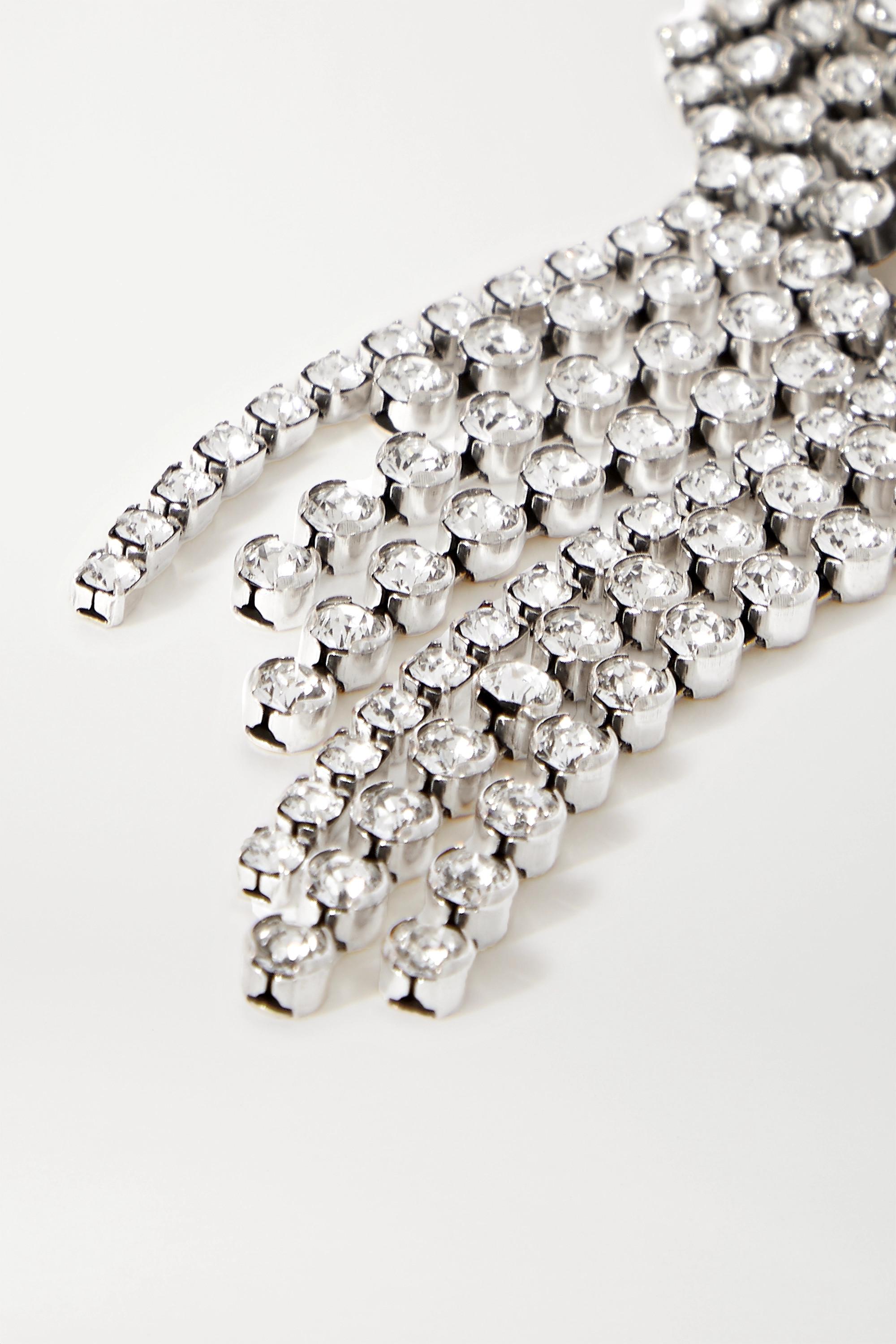 Isabel Marant Silver-tone crystal brooch
