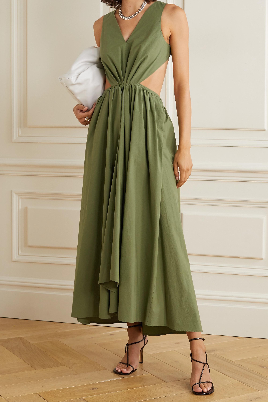 Deveaux Madelyn Kleid aus Baumwollpopeline mit Cut-outs