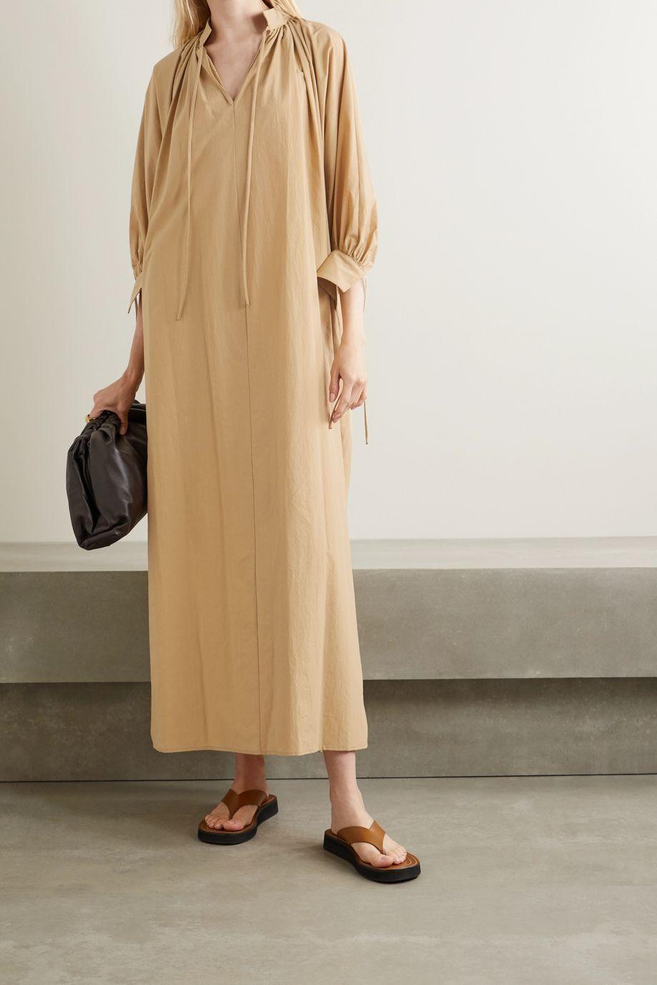 Deveaux Whitney cotton-poplin maxi dress