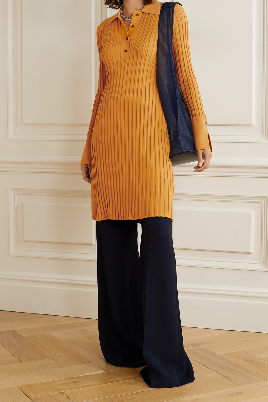 Deveaux Ribbed-knit tunic