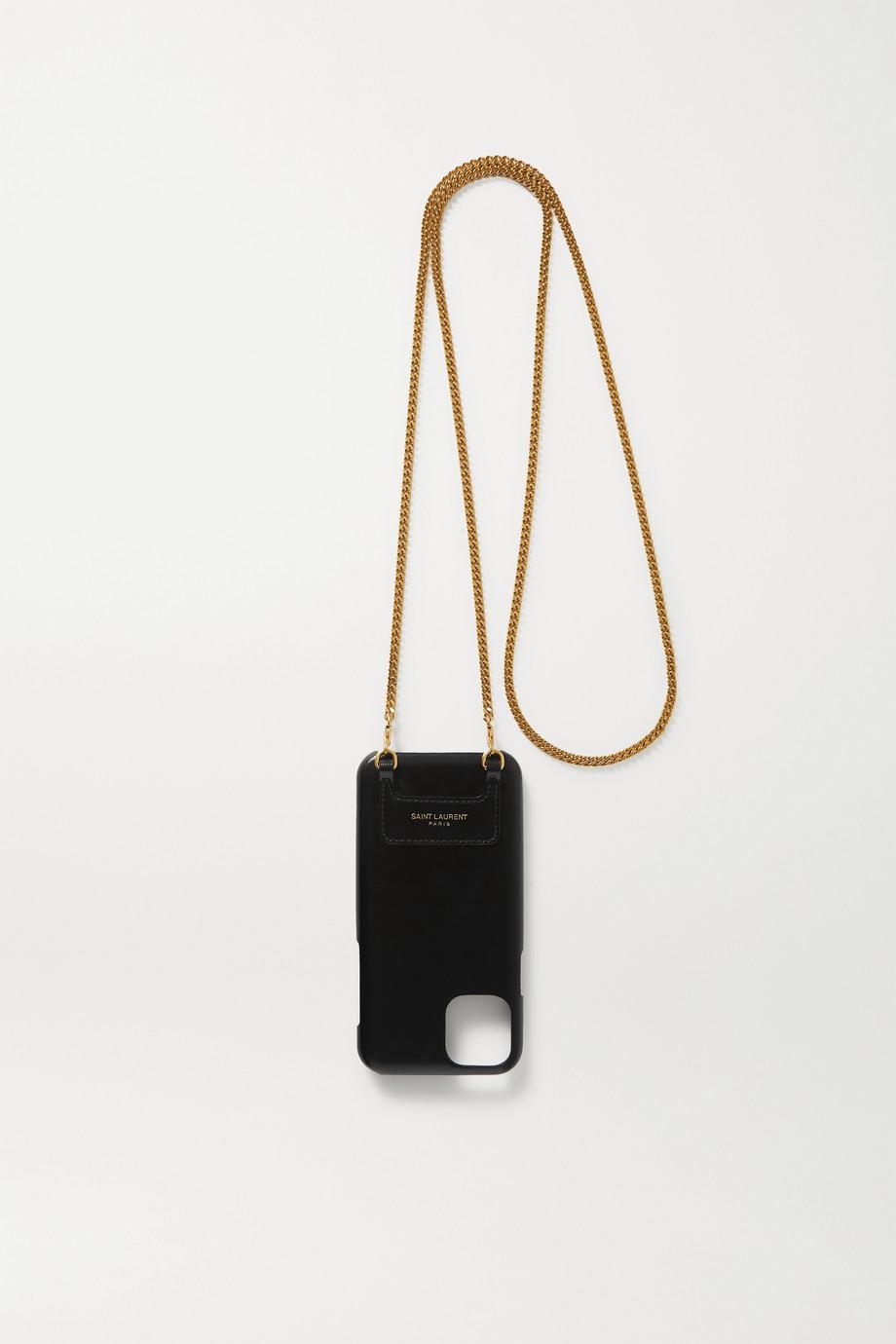 SAINT LAURENT Leather iPhone 11 Pro case