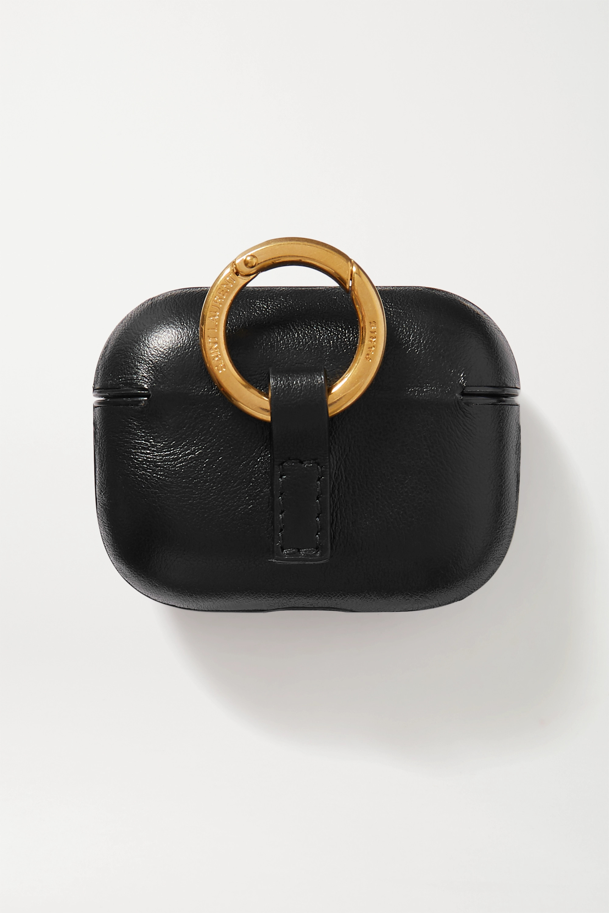 SAINT LAURENT Printed leather AirPods case