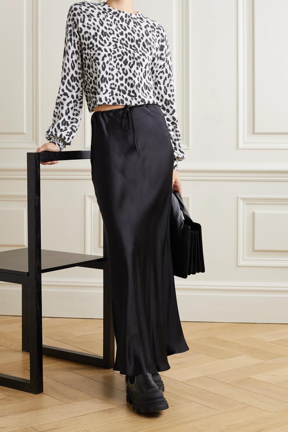 Alice + Olivia Ansley leopard-jacquard cashmere sweater