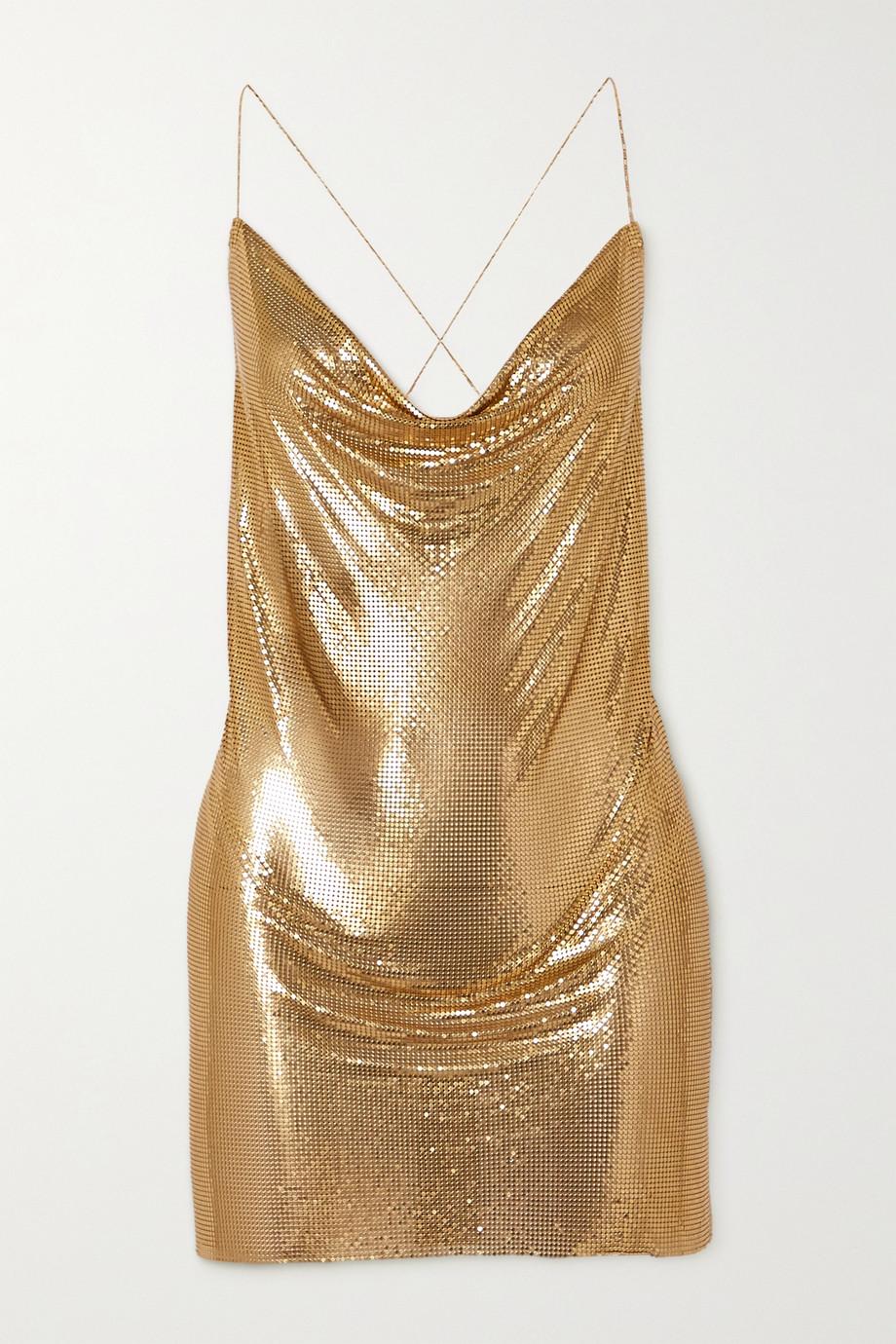 Fannie Schiavoni Zuri open-back chainmail mini dress