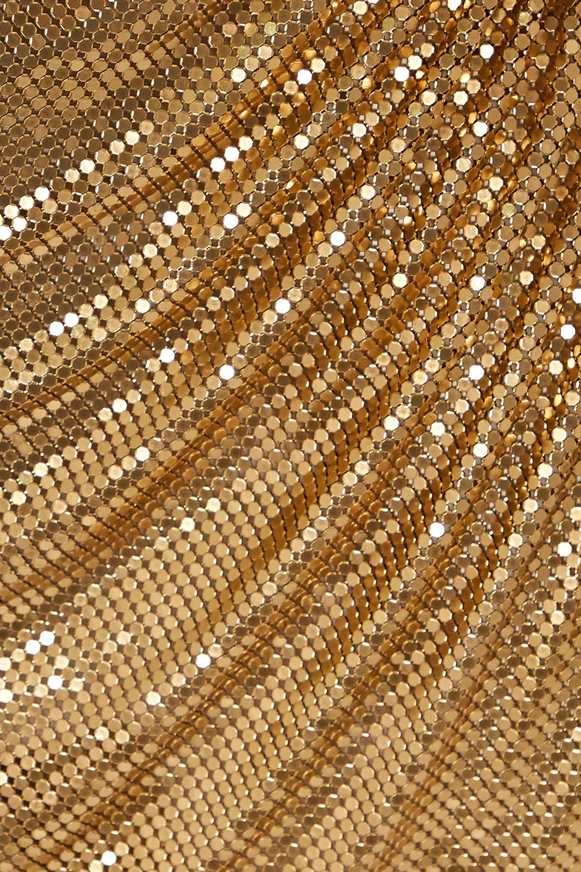 Fannie Schiavoni Ciara ruched chainmail mini skirt