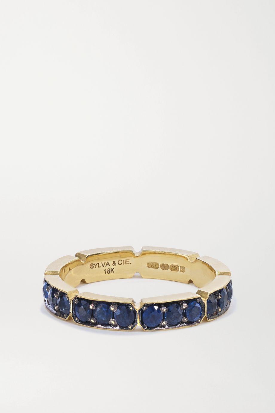 Sylva & Cie Ring aus 18 Karat Gold mit Saphiren