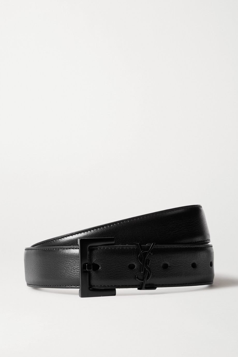 SAINT LAURENT Ceinture en cuir à ornement