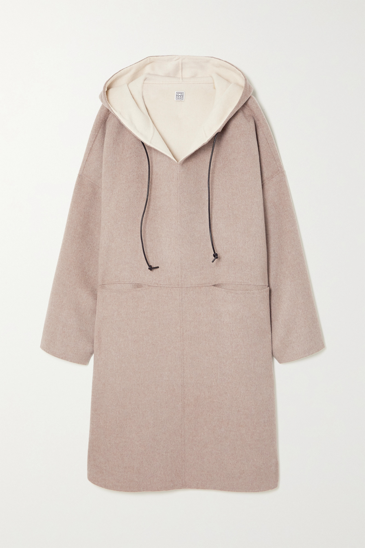 Totême Manteau à capuche en laine et cachemire mélangés
