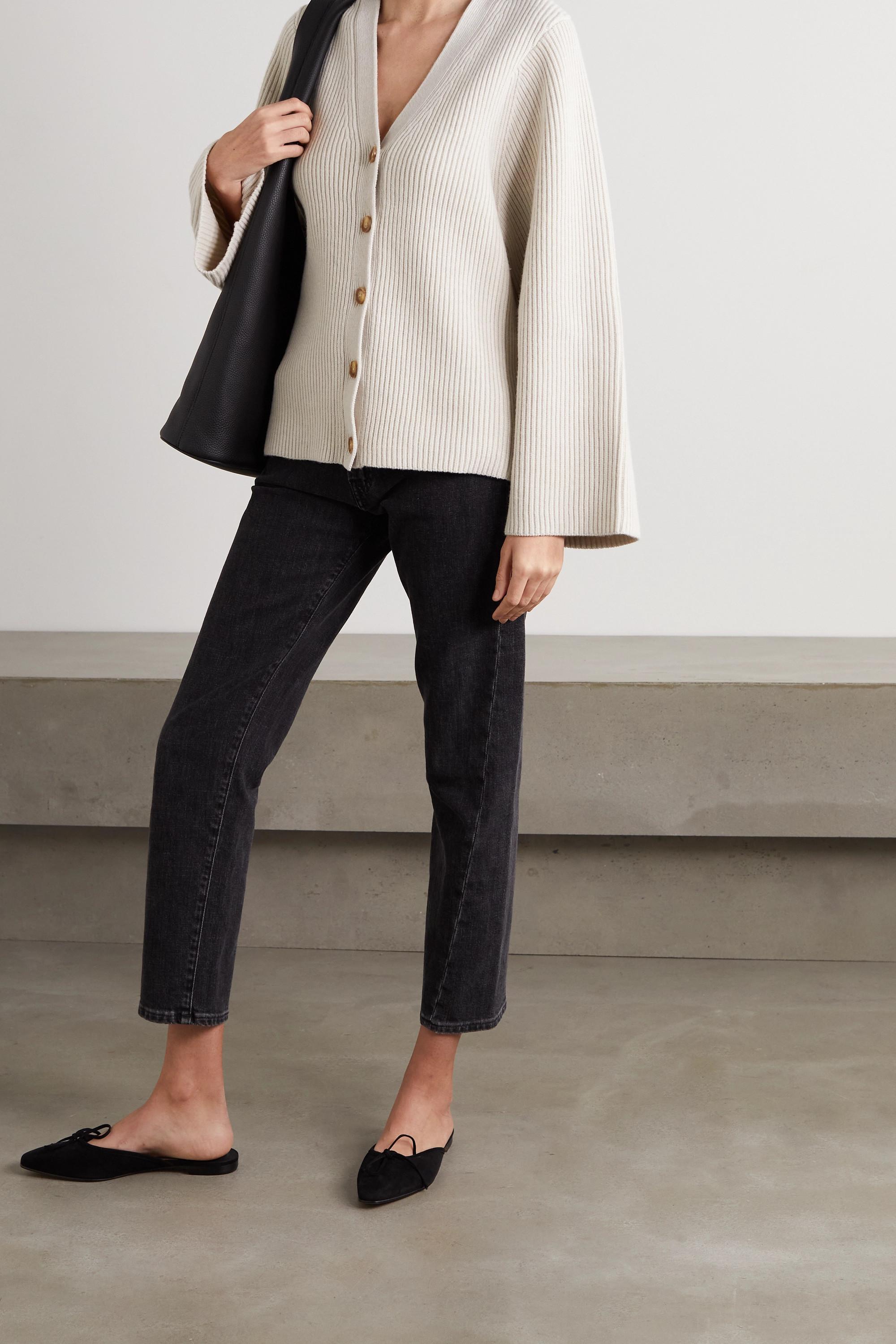 Totême Ribbed wool-blend cardigan