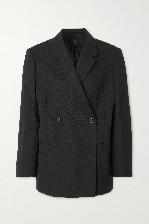 Totême Loreo oversized double-breasted woven blazer
