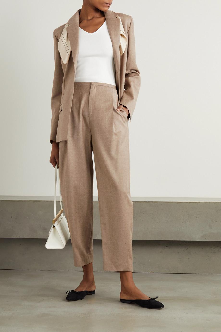 Totême Wool-blend flannel blazer