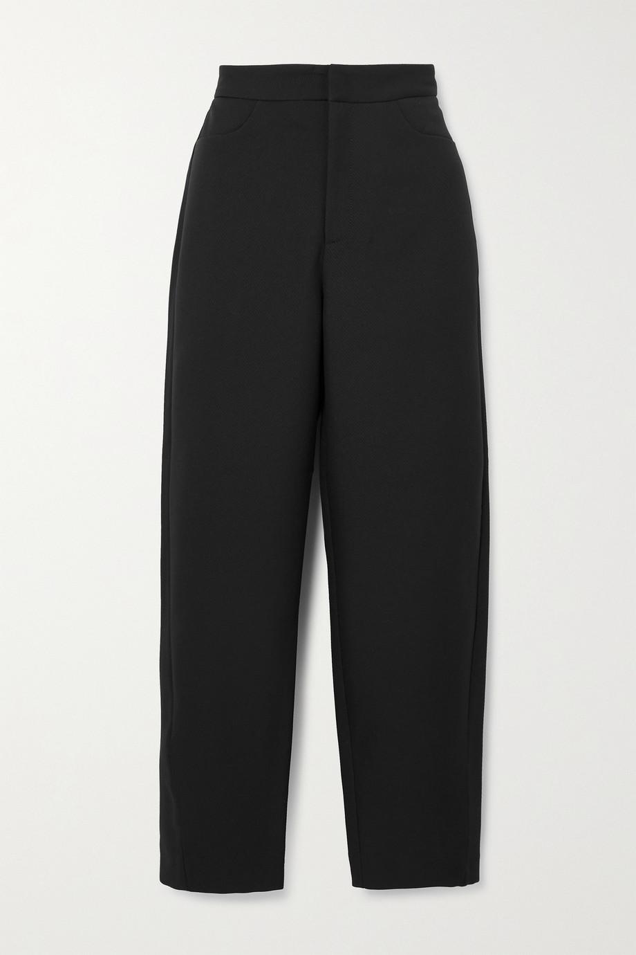 Totême Cropped twill straight-leg pants
