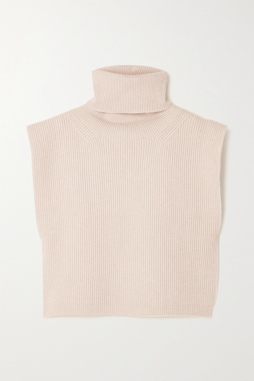 Totême Plastron à col roulé en laine mélangée côtelée