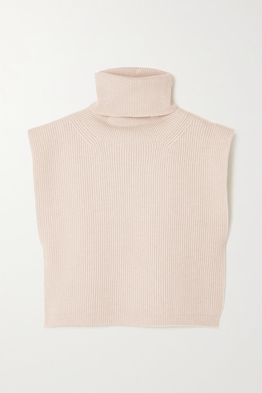 Totême Ribbed wool-blend turtleneck bib