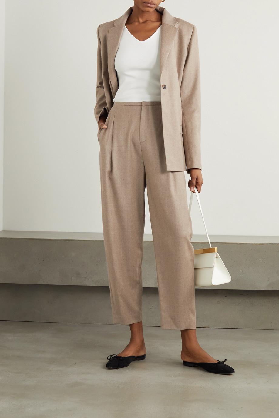 Totême Wool-blend flannel straight-leg pants