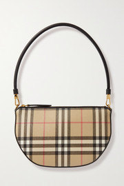 Burberry Checked canvas shoulder bag