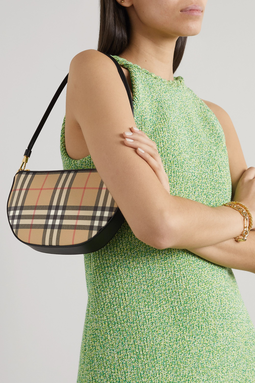 Burberry Checked canvas shoulder bag