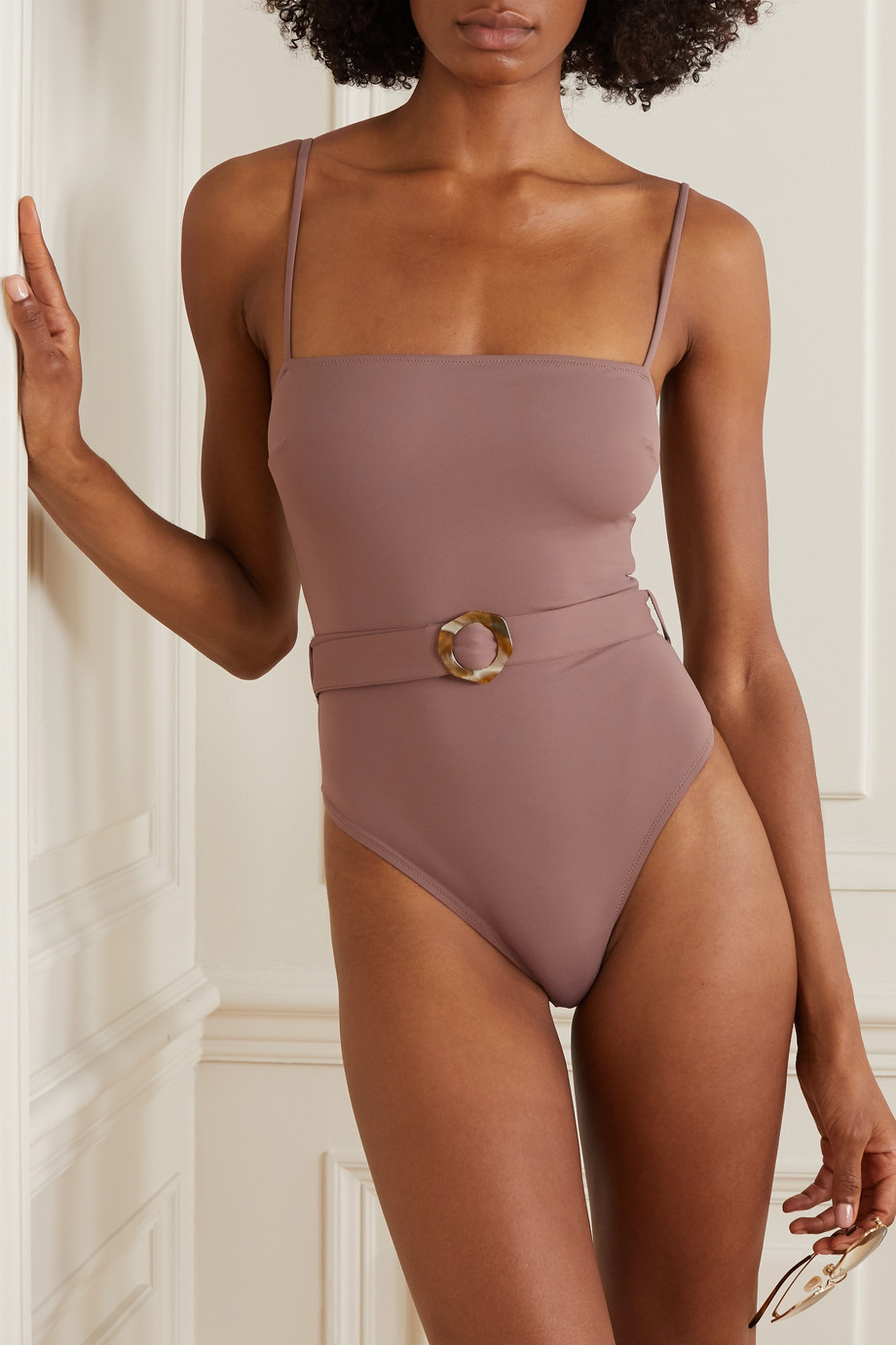 Fisch + NET SUSTAIN + Space for Giants Korina belted stretch swimsuit