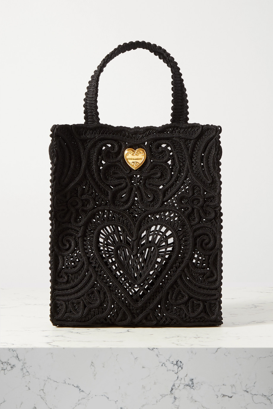 Dolce & Gabbana Beatrice small crocheted tote